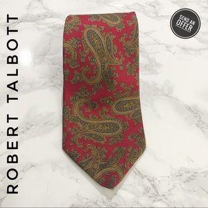 Robert Talbott Vintage Red Paisley Silk Tie EUC